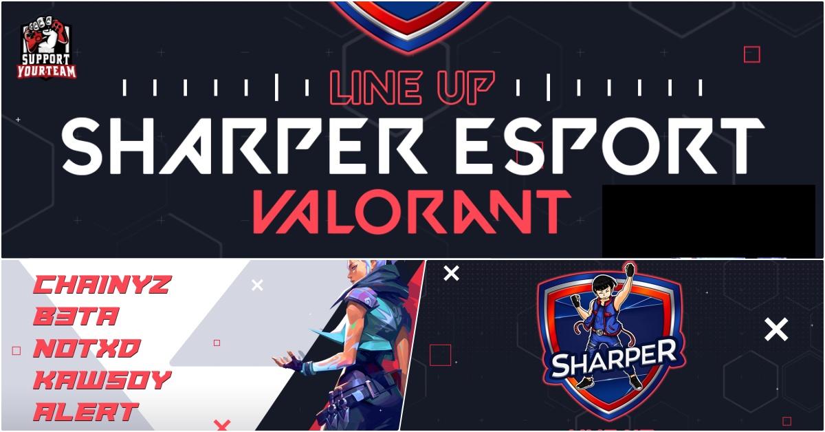 Sharper Esports ประกาศเข้าร่วมทำทีม Valorant ด้วยการคว้าผู้เล่น CS:GO ชั้นนำจากทีม NoNamegaming มาแบบยกชุด !!