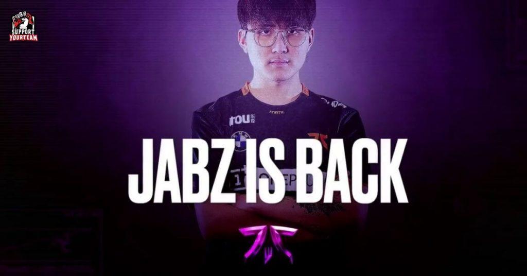 วงการมายา !! เมื่อทาง Fnatic Dota2 ประกาศดึงตัวอดีตผู้เล่น POS5 ขวัญใจชาวไทยอย่าง ' Jabz ' กลับเข้าสู่สังกัดอีกครั้ง!!