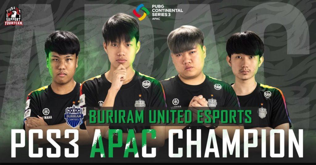 Buriram United Esports จัดหนัก !! คว้าแชมป์ในรายการใหญ่อย่าง PUBG Continental Series 3 APAC มาได้สำเร็จ