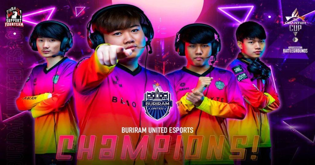แม้เป็นศึกล้างตาพวกเค้าก็ไม่หวั่น !! Buriram United Esports คว้าแชมป์ในรายการ JBL Quantum Cup PUBG่ มาได้สำเร็จ !!