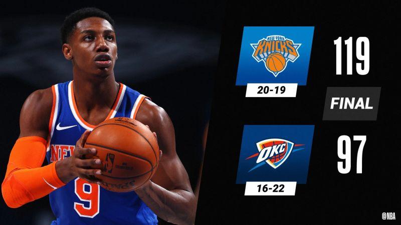 NY Knicks กำหราบ OKC อยู่หมัด !!